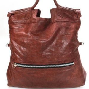 Foley + Corinna distressed large leather tote